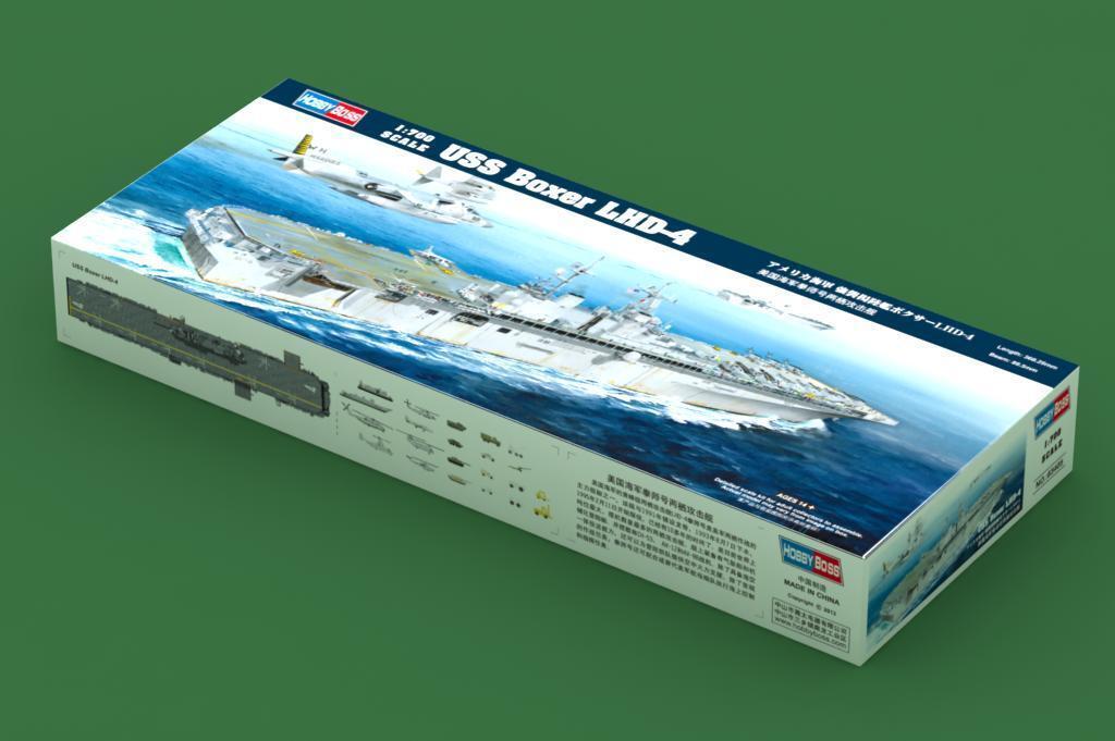 Hobby Boss 83405 USS LHD-4 barco de asalto anfibios Boxer buque de guerra Kit Modelo 1 700