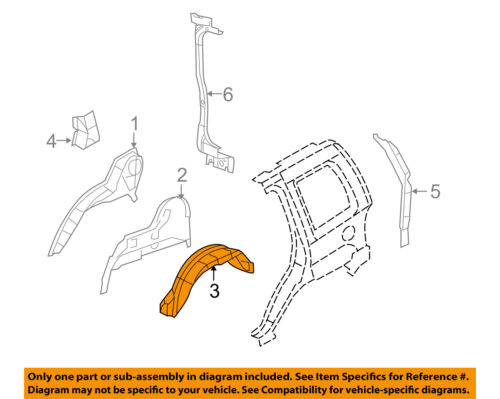 Jeep CHRYSLER OEM 08-12 Liberty Rear-Fender Liner Splash Shield Left 55157413AB