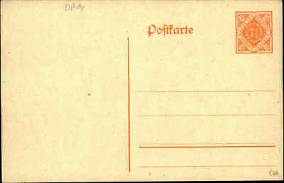 Vereinigt Postkarten Ganzsache WÜrttemberg Post Frei-marke 7 1/2 Pfennig Ungebraucht Deutschland