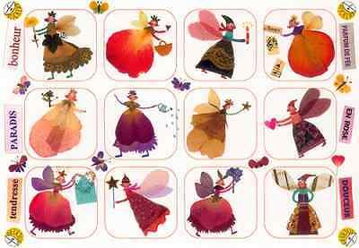 *Zauberhafte*Sticker&Postkarte*Zauberhafte Feen*10 x15cm