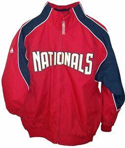 Details About Washington Nationals Mlb Authentic Majestic Dugout Jacket Kids Large
