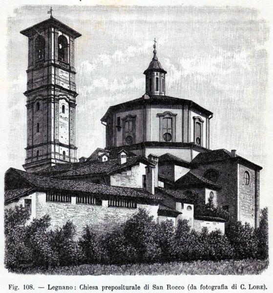 Legnano: Basilica Di San Magno. Milano. Stampa Antica + Passepartout. 1894 Prezzo Ragionevole