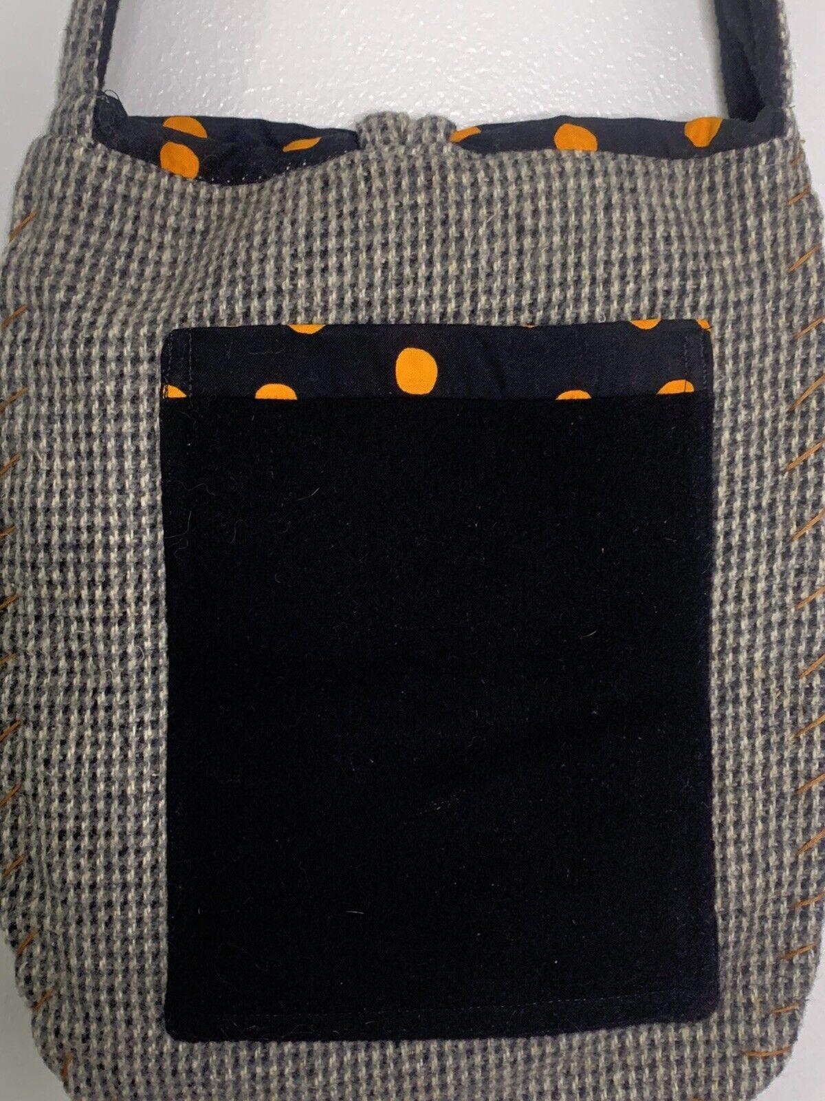 Wool Black Cat Bag Purse Shoulder Bag Handmade? U… - image 5