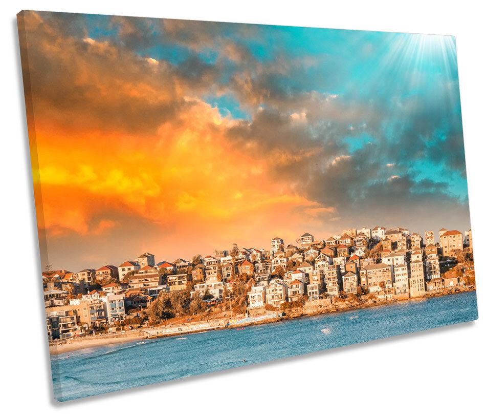 Bondi BEACH Sydney TELA SINGOLA Wall Art Print Picture
