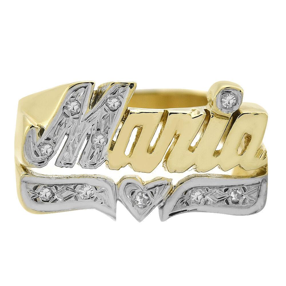 0.10 Carat Diamond 'Maria' Vintage Ring 14K Yellow gold