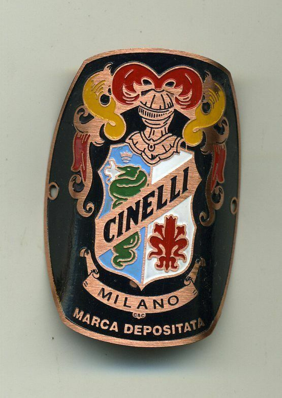 Cinelli Milano Bicycles Metal Headbadge - Copper red Type