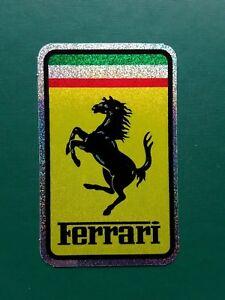 FERRARI-ITALIAN-CLASSIC-MOTORSPORT-RACING-BADGE-VINYL-DECAL-STICKER-UK-SELLER