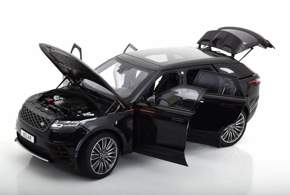 LCD Modelos 2018 Range Rover velar Negro en escala 1 18  Nueva Versión