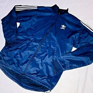 precoz Grabar Laboratorio  Super Rare Vintage Adidas Originals Jacket Navy Blue Glanz Cal Surf Shell  Large | eBay