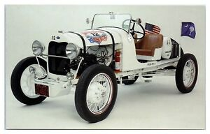 1928-Model-A-Ford-Interstate-Batteries-Great-American-Race-Postcard