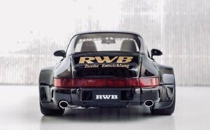 ‼️GT SPIRIT‼️Porsche 911 964 Turbo Targa 1:18 RWB Black Schwarz OVP ZM117