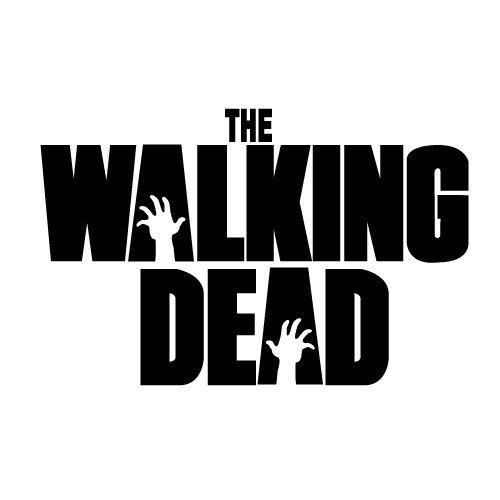 "THE WALKING DEAD logo 4/"" STACKED VINYL DECAL STICKER"