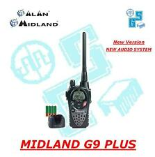MIDLAND G9 PLUS NERA RICETRASMITTENTE PMR/LPD ALAN New Audio System - TalkBack