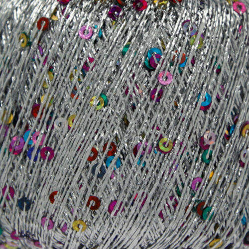 25g King Cole Cosmos Yarn Free Knitting Pattern Metallic Sequin Thread 1 3 6 12