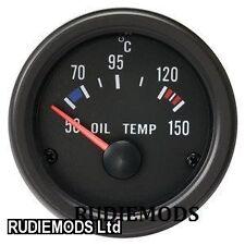 52mm Negro Resistente Al Agua La Temperatura Del Aceite deg C Calibre Ideal Kit de coche o Marine