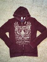 Affliction American Customs Women's Reversible Hoodie - Authentic - Size M
