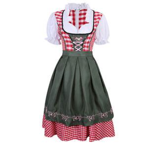 Ladies German Beer Costume Bavarian Bar Maid Wench Oktoberfest Fancy Dress