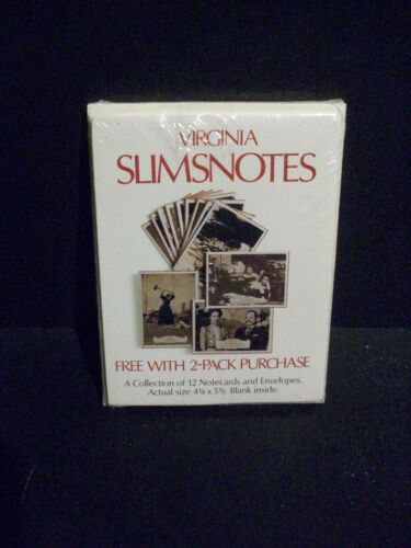 12 NOTE CARDS VIRGINIA SLIMS NOTES