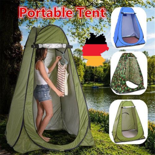 Duschzelt Toilettenzelt Umkleidezelt Camping Zelt Wasserfest Beistellzelt DE DHL