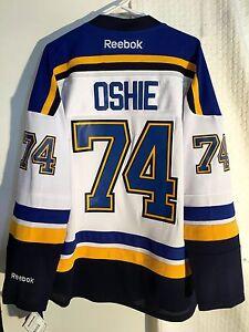 new concept 17f75 43c6c Details about Reebok Premier NHL Jersey St.Louis Blues TJ Oshie White sz S