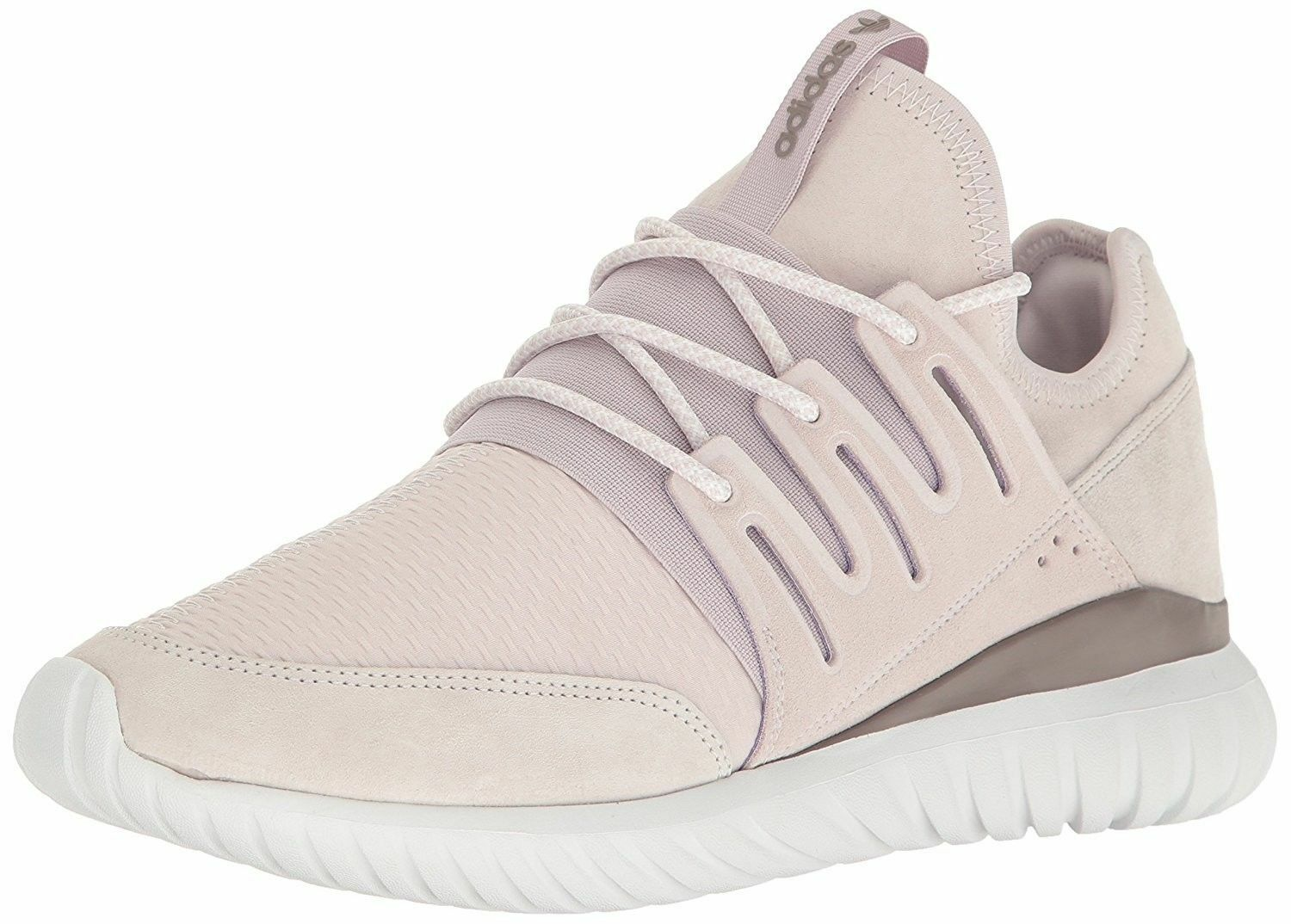size 40 196f7 a4b77 adidas Mens Men's Tubular Radial Lace up SNEAKERS Ice Purple 12
