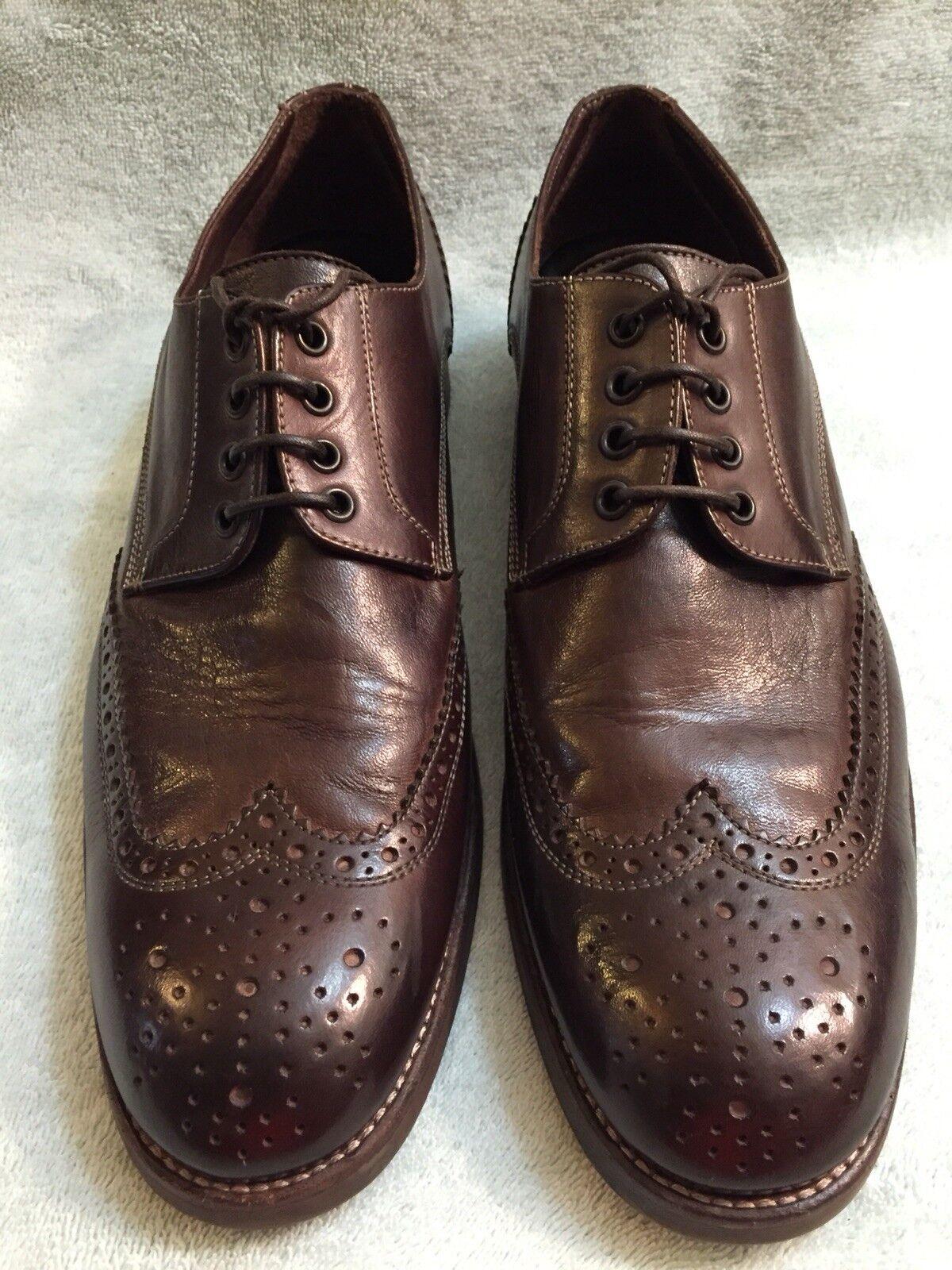 più economico John John John Varvatos Wingtip  Oxford Marrone Hand Made in  scarpe Dimensione 11 M  fino al 42% di sconto