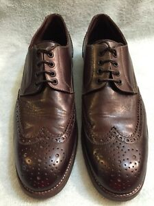 4aee7eee3b919 John Varvatos Wingtip Oxford Brown Hand Made in Italy Shoes Size 11 ...