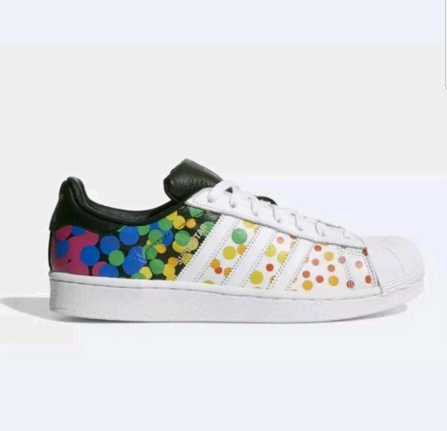 NIB Men's Adidas Shoes Original Pride Pack Superstar Shoes Adidas Sz 10.5 4e3abc