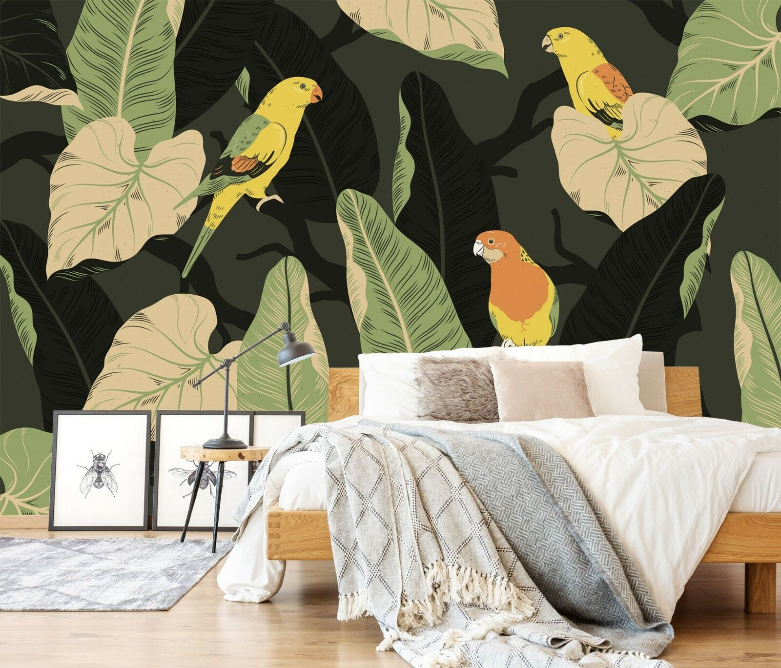 3D Parred Leaf 90 wall Paper Exclusive MXY Wallpaper Mural Decal Indoor Wall