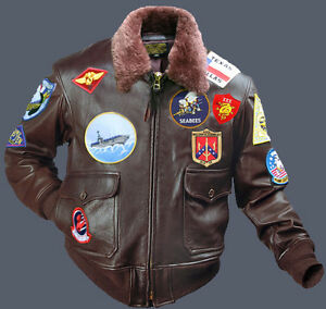 5c8cfaab8 Top Gun G1 Bomber Tom Cruise Pete Maverick Cowhide Leather Jacket | eBay