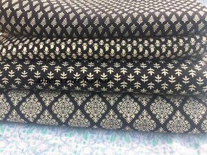 50-Yard-Indian-Hand-Block-Print-Fabric-100-Cotton-Pink-Paisley-Print-Fabric