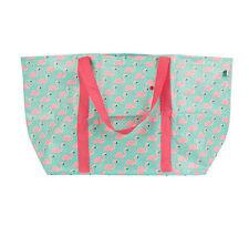 Large Flamingo Foldable Shopping Bag Shopper Shoulder Tote Beach Bag