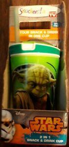 2-in-1 Snack /& Drink Cups Star Wars Last Jedi Chubaka Jr BPA Free New