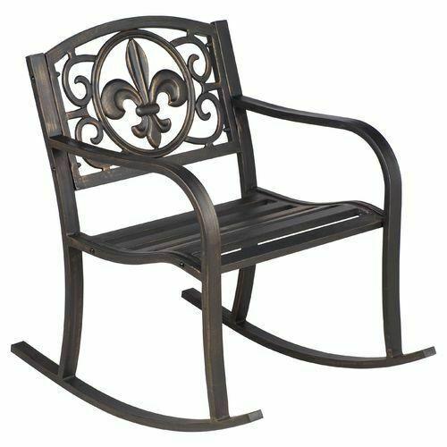Pleasing Patio Metal Rocking Chair Porch Seat Deck Outdoor Backyard Glider Rocker For Sale Online Ebay Ibusinesslaw Wood Chair Design Ideas Ibusinesslaworg