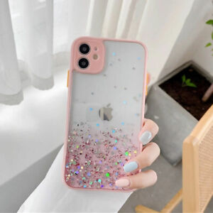 Glitter Clear Shockproof Soft TPU Case Phone Cover Skin For iPhone 11 Pro Max☜