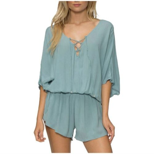 Nwot Romper Wear Large Tavik Swim Festival Blue Dusty Venice qFaRqwv