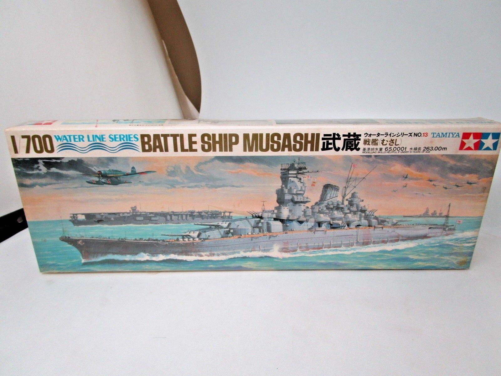 1 700 Scale Tamiya Battleship Musashi Water Line Series Unopened Sealed