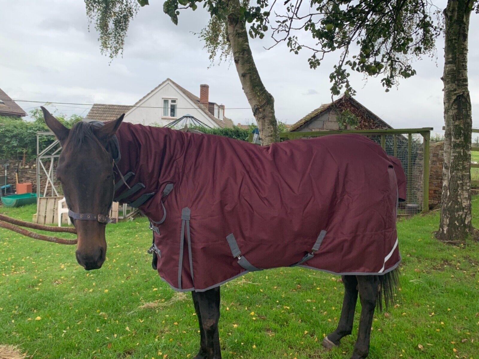 Horse rug full neck turnout- 1200 denier 200gram fill 6'3