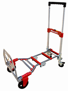 1a414384cafb Details about Milwaukee Folding Hand Truck Dolly Portable Moving Cart Multi  Position Compact