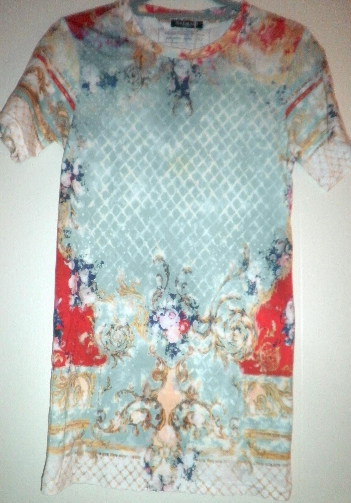 BALMAIN Floral Print T-Shirt SZ 36 = Fits US S - NWOT