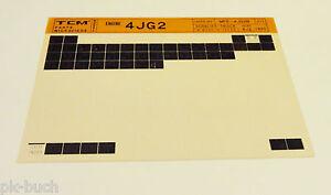 Microfich Spare Parts Catalog Tcm Fork-Lift Motor 4 Jg 2 Stand 08/1995