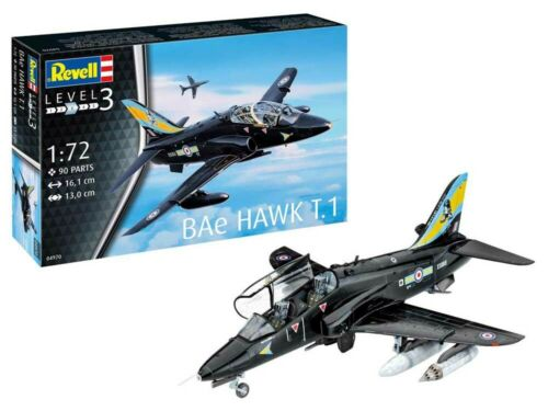Paints /& Glue Revell 64970 BAe Hawk T.1 1:72 Plastic Model Kit inc