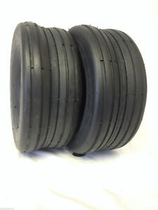 2-11x4-00-5-SMOOTH-RIB-LAWN-MOWER-TRACTOR-GO-KART-Lawnmower-Tires