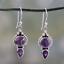 Vintage-Women-Amethyst-Gemstone-Wedding-Engagement-Earrings-925-Silver-Jewelry thumbnail 18
