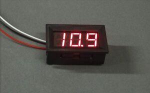 DIGITAL-DISPLAY-VOLTMETER-VOLTAGE-RED-LED-PANEL-METER-0-100V-3-WIRE-gauge