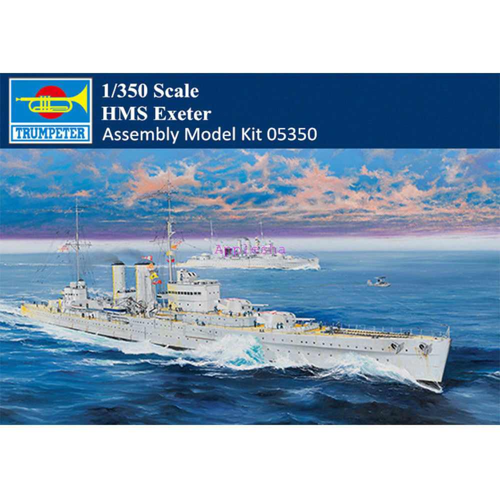 Trumpeter 05350 1 350 Scale HMS Exeter Heavy Cruiser Military Assembly Model Kit
