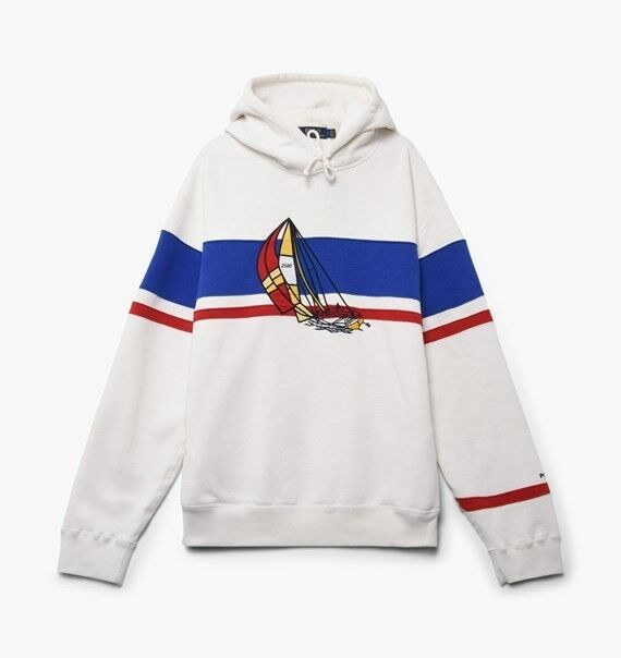 Polo Ralph Lauren CP-93 White Sailboat hoodie Large L Hooded Sweatshirt Sold out