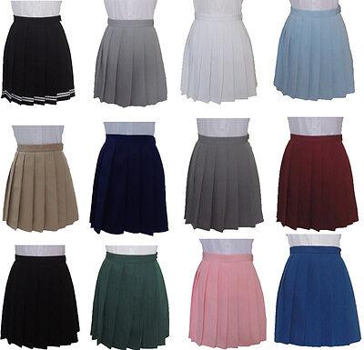 Pleated Mini Skirt Japan School Girl Uniform Style Cheerleader Sailor Dress