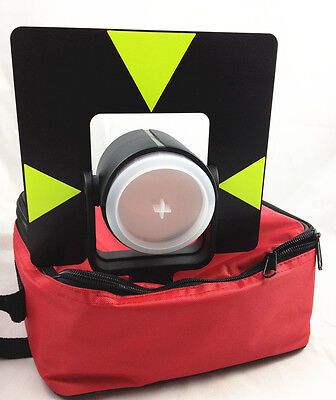 NEW Single Prism with soft bag for LEICA type total stations (offset:0mm)
