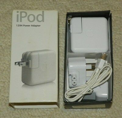 Wall Charger Cable iPod Classic, Mini Genuine Apple Firewire Power Adapter